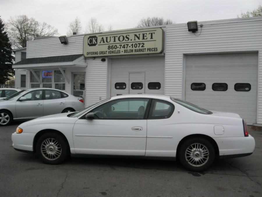 2000 Chevrolet Monte Carlo 2dr Cpe LS, available for sale in Plainville, Connecticut | CK Autos. Plainville, Connecticut