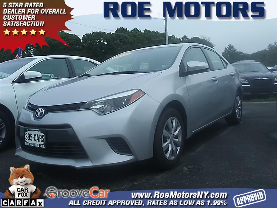 2016 Toyota Corolla 4dr Sdn CVT LE Plus (Natl), available for sale in Shirley, New York   Roe Motors Ltd. Shirley, New York