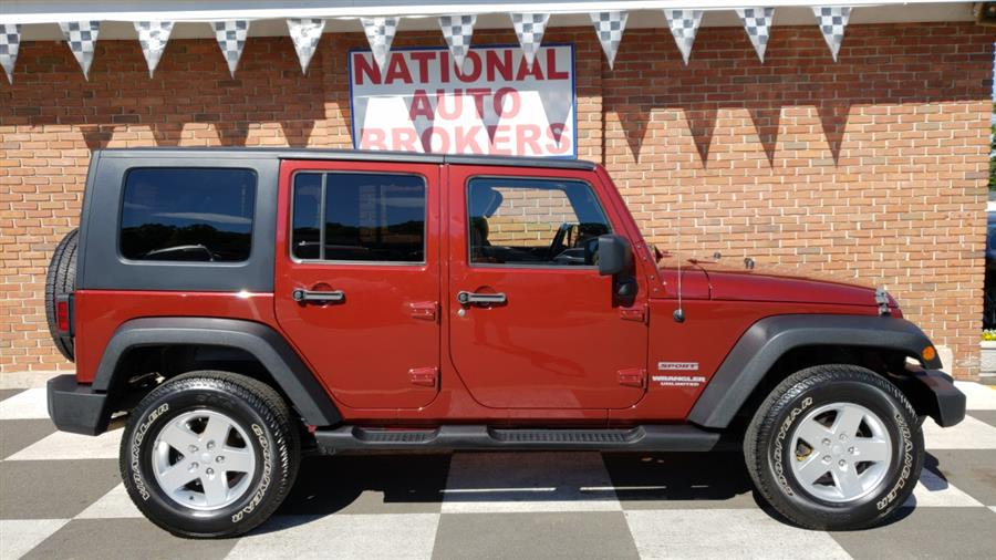 2010 Jeep Wrangler Unlimited Sport, available for sale in Waterbury, Connecticut | National Auto Brokers, Inc.. Waterbury, Connecticut
