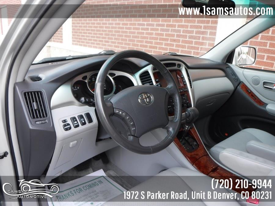 2006 Toyota Highlander 4dr V6 4WD Limited w/3rd Row (Natl), available for sale in Denver, Colorado   Sam's Automotive. Denver, Colorado