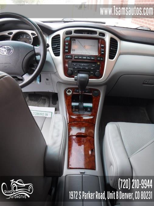 2006 Toyota Highlander 4dr V6 4WD Limited w/3rd Row (Natl), available for sale in Denver, Colorado | Sam's Automotive. Denver, Colorado