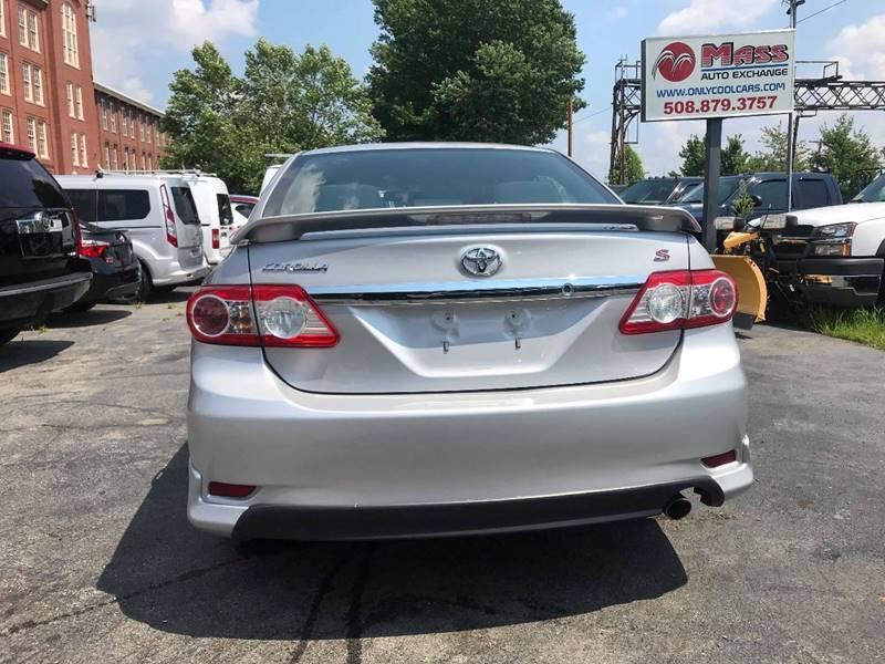 2011 Toyota Corolla S 4dr Sedan 4A, available for sale in Framingham, Massachusetts | Mass Auto Exchange. Framingham, Massachusetts