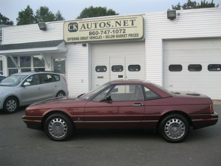 1987 Cadillac Allante'' 2dr Coupe Convertible, available for sale in Plainville, Connecticut | CK Autos. Plainville, Connecticut