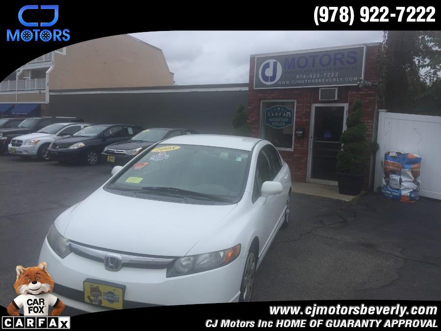2008 Honda Civic Sdn 4dr Auto LX, available for sale in Beverly, Massachusetts   CJ Motors Inc. Beverly, Massachusetts