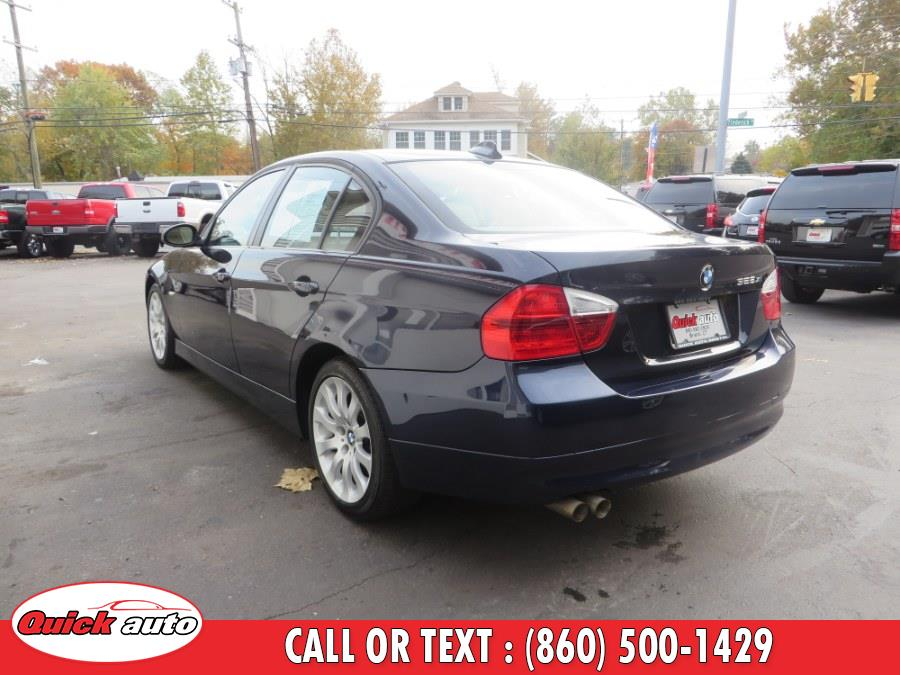 2007 BMW 3 Series 4dr Sdn 328xi AWD SULEV, available for sale in Bristol, Connecticut | Quick Auto LLC. Bristol, Connecticut