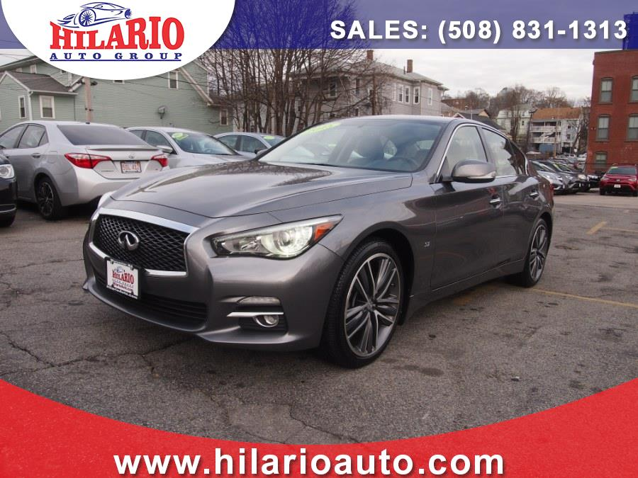 2015 Infiniti Q50 4dr Sdn AWD Premiun, available for sale in Worcester, Massachusetts | Hilario's Auto Sales Inc.. Worcester, Massachusetts