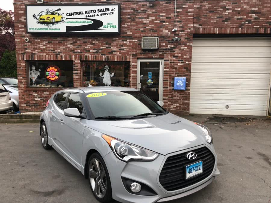 2014 Hyundai Veloster 3dr Cpe Man Turbo R-Spec, available for sale in New Britain, Connecticut | Central Auto Sales & Service. New Britain, Connecticut