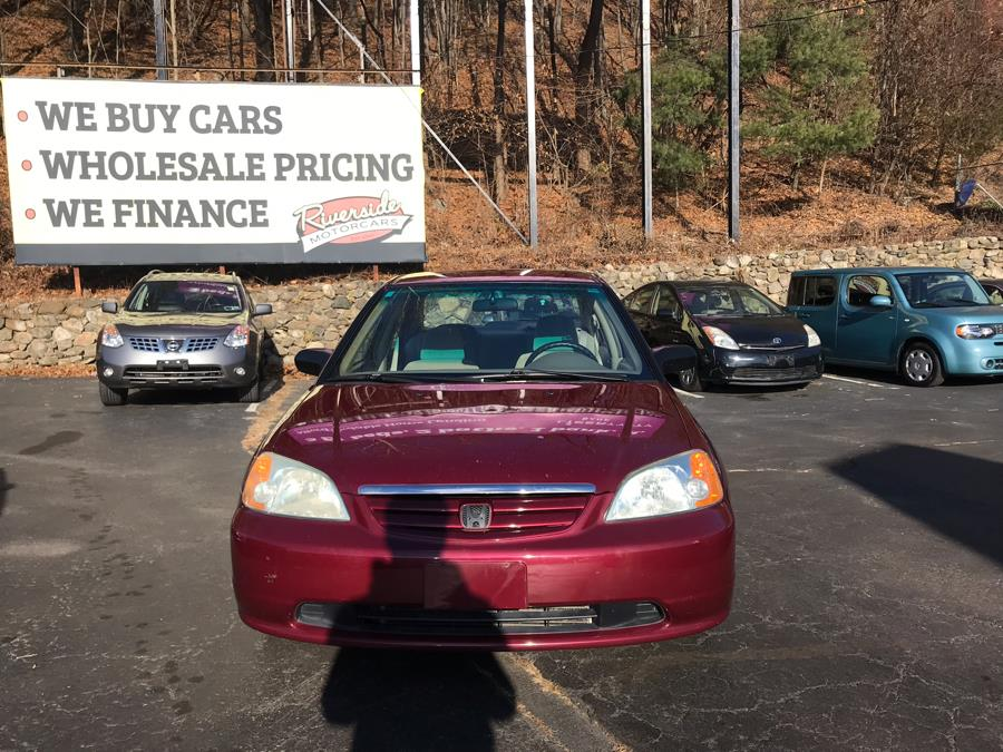 2002 Honda Civic 4dr Sdn LX Manual, available for sale in Naugatuck, Connecticut | Riverside Motorcars, LLC. Naugatuck, Connecticut