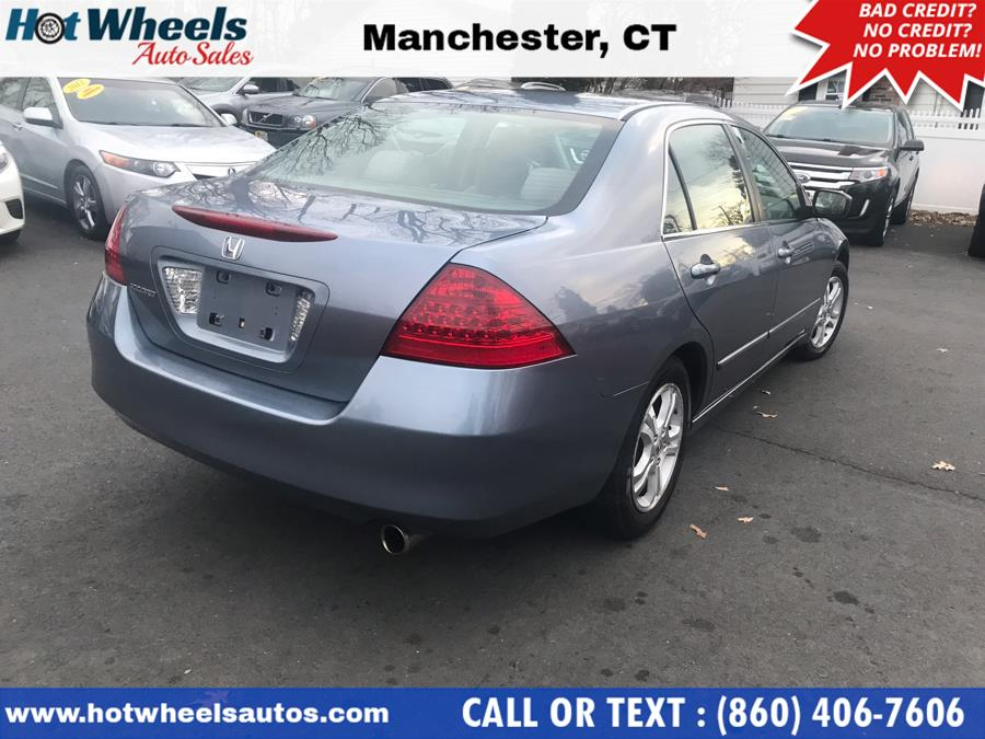 2007 Honda Accord Sdn 4dr I4 AT EX PZEV, available for sale in Manchester, Connecticut | Hot Wheels Auto Sales LLC. Manchester, Connecticut