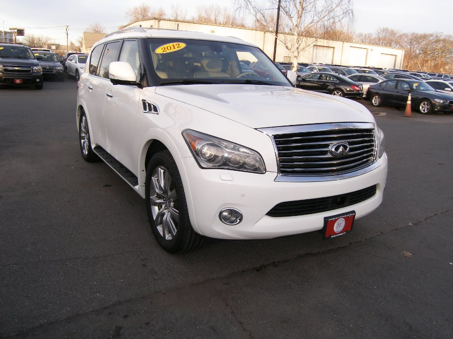 2012 INFINITI QX56 4WD 4dr 7-passenger, available for sale in Stratford, Connecticut | Wiz Leasing Inc. Stratford, Connecticut