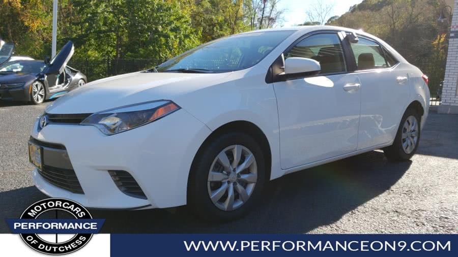 Used Toyota Corolla 4dr Sdn CVT LE (Natl) 2016 | Performance Motorcars Inc. Wappingers Falls, New York
