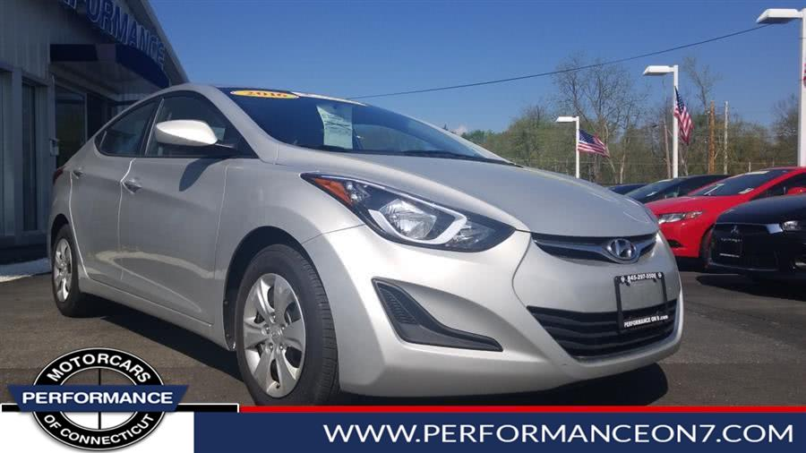 Used Hyundai Elantra 4dr Sdn Auto SE (Alabama Plant) 2016 | Performance Motor Cars. Wilton, Connecticut