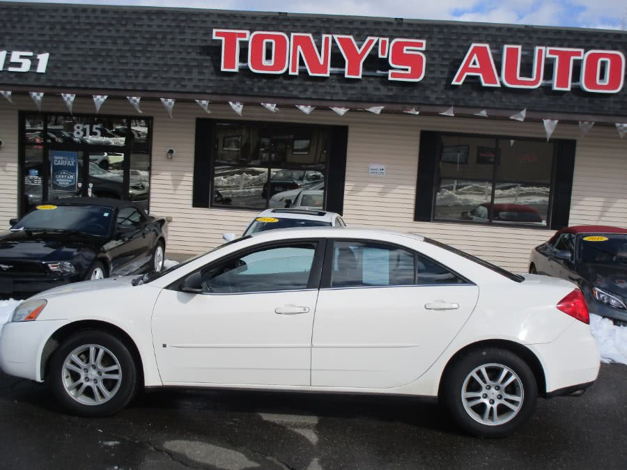2006 Pontiac G6 4dr Sdn 6-Cyl, available for sale in Waterbury, Connecticut | Tony's Auto Sales. Waterbury, Connecticut