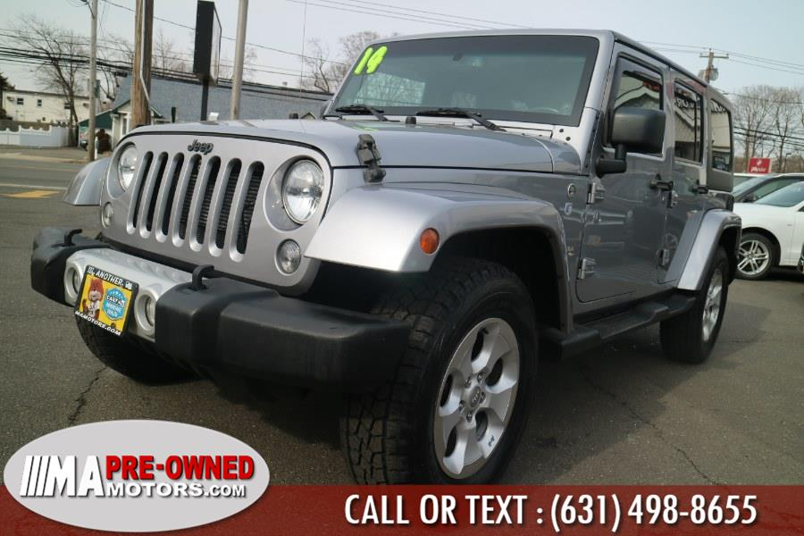 2014 Jeep Wrangler Unlimited 4WD 4dr Sahara, available for sale in Huntington, New York | M & A Motors. Huntington, New York