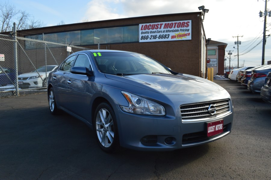2011 Nissan Maxima 4dr Sdn V6 CVT 3.5 SV w/Premium Pkg, available for sale in Hartford, Connecticut | Locust Motors LLC. Hartford, Connecticut