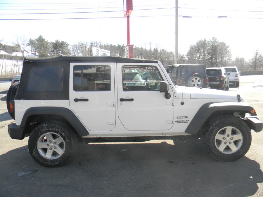 2016 Jeep Wrangler Unlimited 4WD 4dr Sport, available for sale in Southborough, Massachusetts | M&M Vehicles Inc dba Central Motors. Southborough, Massachusetts