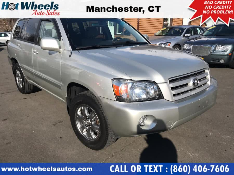 2004 Toyota Highlander 4dr V6 4WD w/3rd Row (Natl), available for sale in Manchester, Connecticut | Hot Wheels Auto Sales LLC. Manchester, Connecticut