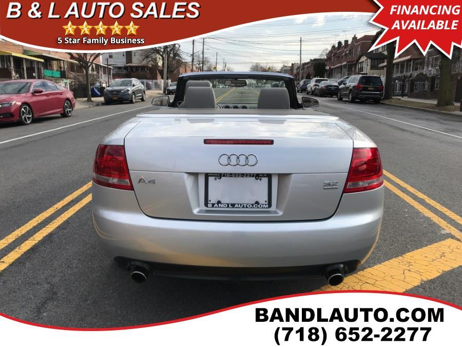2007 Audi A4 2dr Cabrio Auto 3.2L quattro, available for sale in Bronx, New York | B & L Auto Sales LLC. Bronx, New York