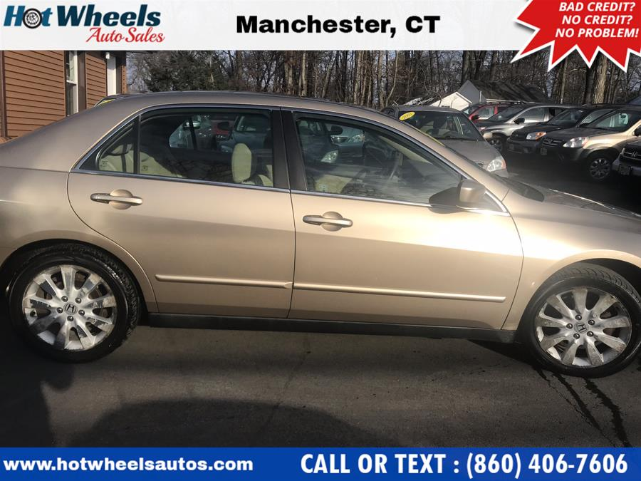 2007 Honda Accord Sdn 4dr V6 AT LX ULEV, available for sale in Manchester, Connecticut | Hot Wheels Auto Sales LLC. Manchester, Connecticut