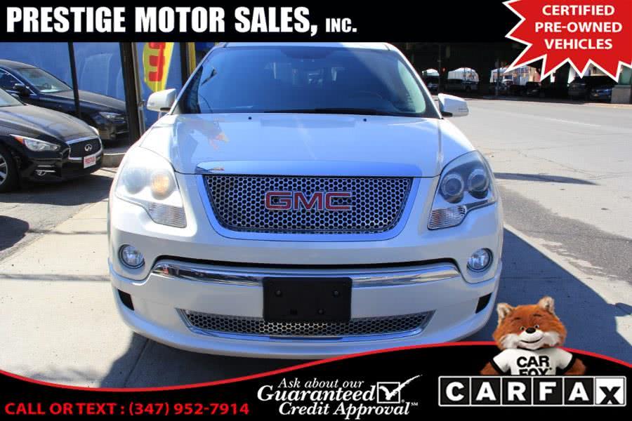 Used GMC Acadia AWD 4dr Denali 2012 | Prestige Motor Sales Inc. Brooklyn, New York