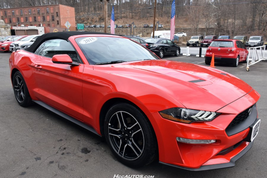 2018 Ford Mustang EcoBoost Premium Convertible, available for sale in Waterbury, Connecticut | Highline Car Connection. Waterbury, Connecticut