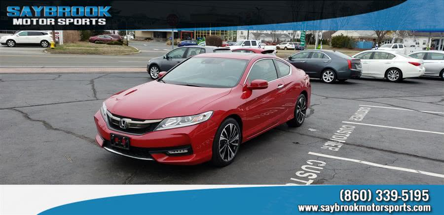 2016 Honda Accord Coupe 2dr V6 Auto EX-L w/Navi & Honda Sensing, available for sale in Old Saybrook, Connecticut | Saybrook Motor Sports. Old Saybrook, Connecticut