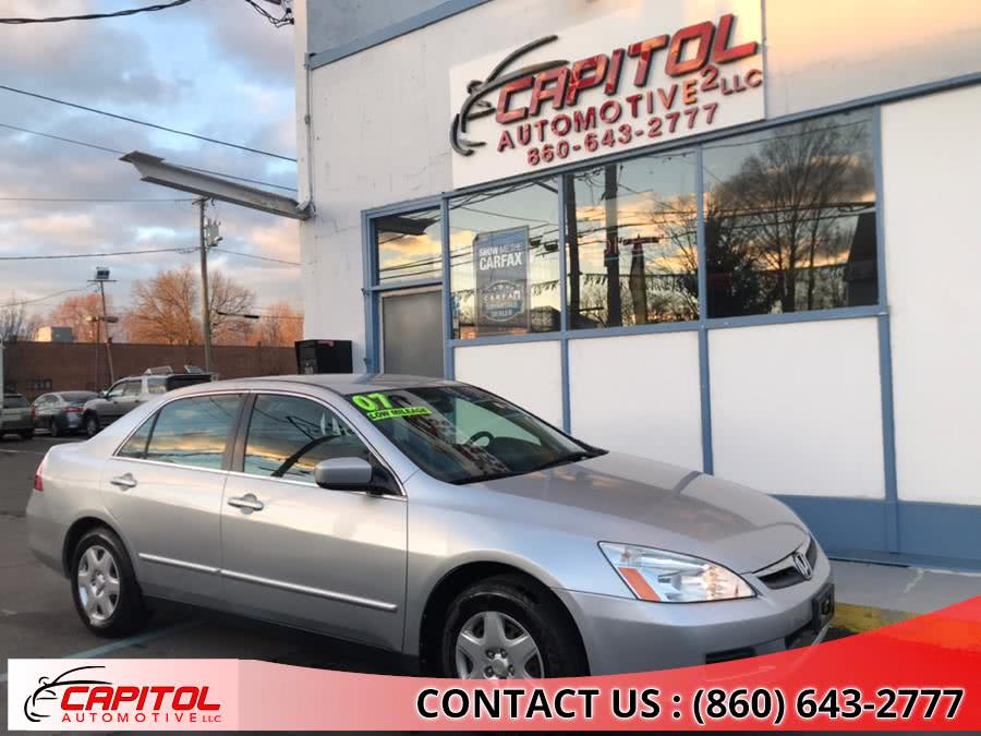 Used Honda Accord Sdn 4dr I4 AT LX PZEV 2007 | Capitol Automotive 2 LLC. Manchester, Connecticut