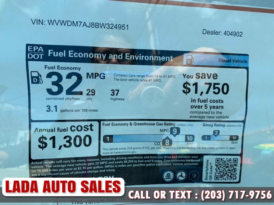 2011 Volkswagen Golf 4dr HB DSG TDI, available for sale in Bridgeport, Connecticut | Lada Auto Sales. Bridgeport, Connecticut