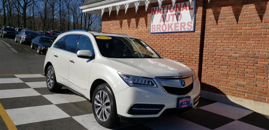 2014 Acura MDX SH-AWD 4dr Tech Pkg, available for sale in Waterbury, Connecticut   National Auto Brokers, Inc.. Waterbury, Connecticut