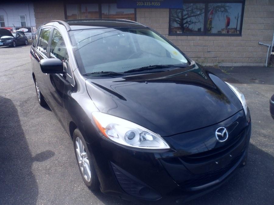 2012 Mazda Mazda5 4dr Wgn Auto Sport, available for sale in Bridgeport, Connecticut | Hurd Auto Sales. Bridgeport, Connecticut