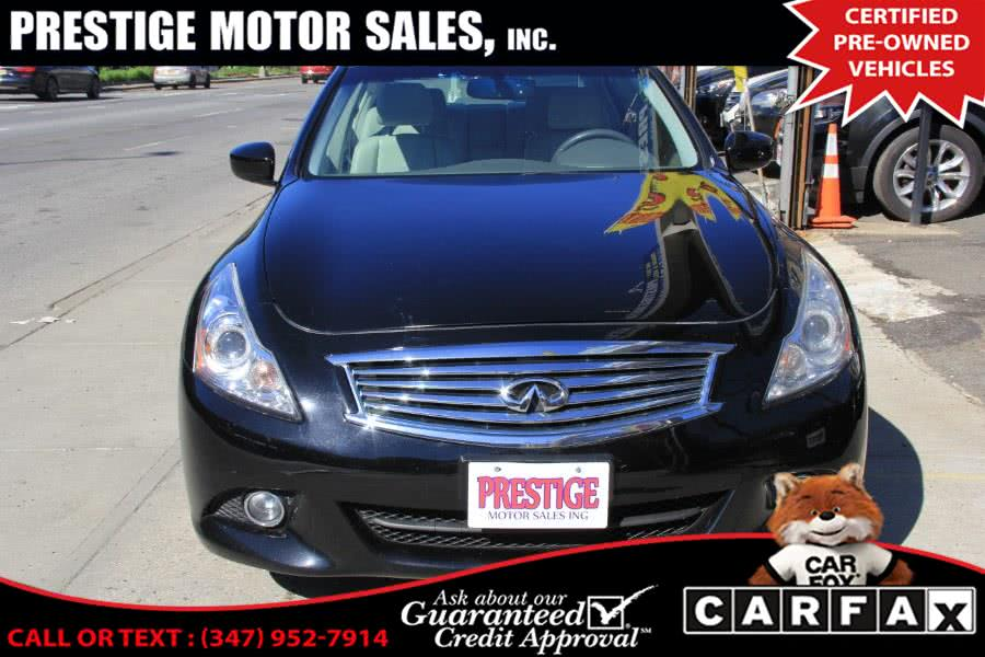 Used 2012 Infiniti G37 Sedan in Brooklyn, New York | Prestige Motor Sales Inc. Brooklyn, New York