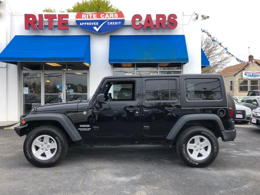 2015 Jeep Wrangler Unlimited 4WD 4dr Sport, available for sale in Lindenhurst, New York   Rite Cars, Inc. Lindenhurst, New York