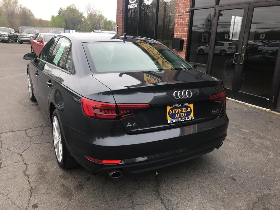 2017 Audi A4 2.0 TFSI Auto Premium quattro AWD, available for sale in Middletown, Connecticut | Newfield Auto Sales. Middletown, Connecticut