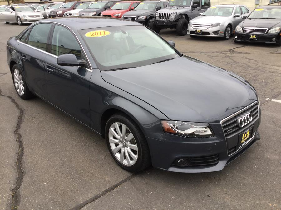 2011 Audi A4 4dr Sdn Auto quattro 2.0T Premium  Plus, available for sale in Plantsville, Connecticut | L&S Automotive LLC. Plantsville, Connecticut