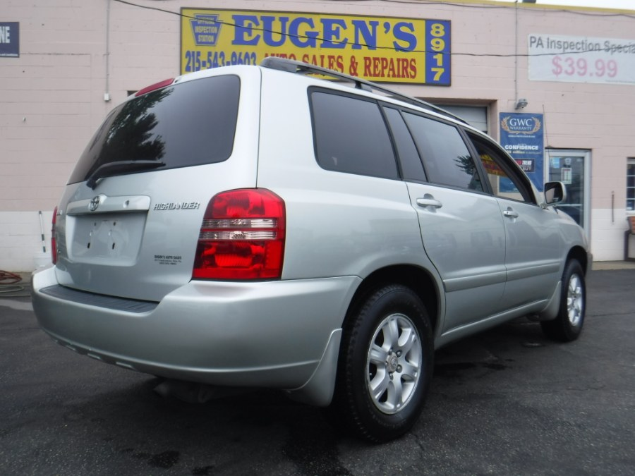2003 Toyota Highlander 4dr V6, available for sale in Philadelphia, Pennsylvania | Eugen's Auto Sales & Repairs. Philadelphia, Pennsylvania