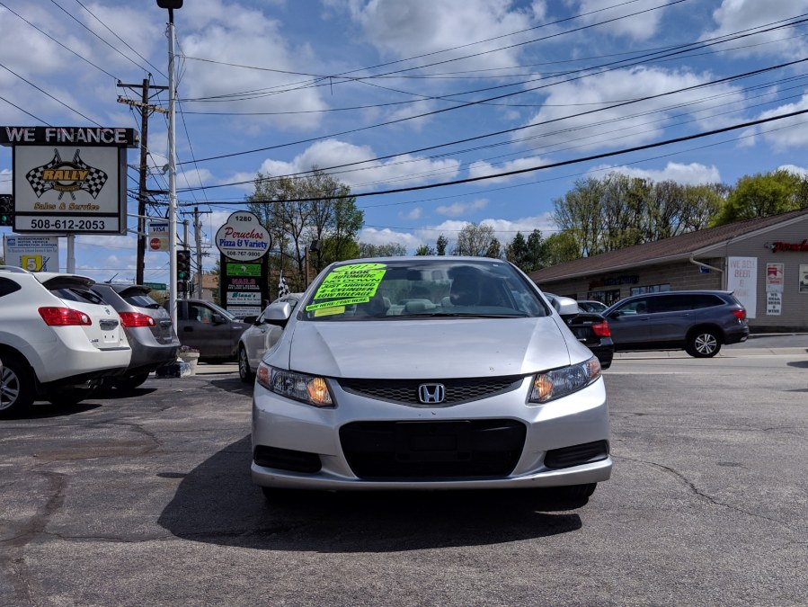 2012 Honda Civic Cpe 2dr Auto LX, available for sale in Worcester, Massachusetts | Rally Motor Sports. Worcester, Massachusetts