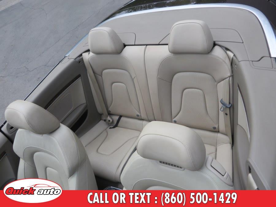 Used Audi A5 2dr Cabriolet Auto quattro 2.0T Premium Plus 2011 | Quick Auto LLC. Bristol, Connecticut