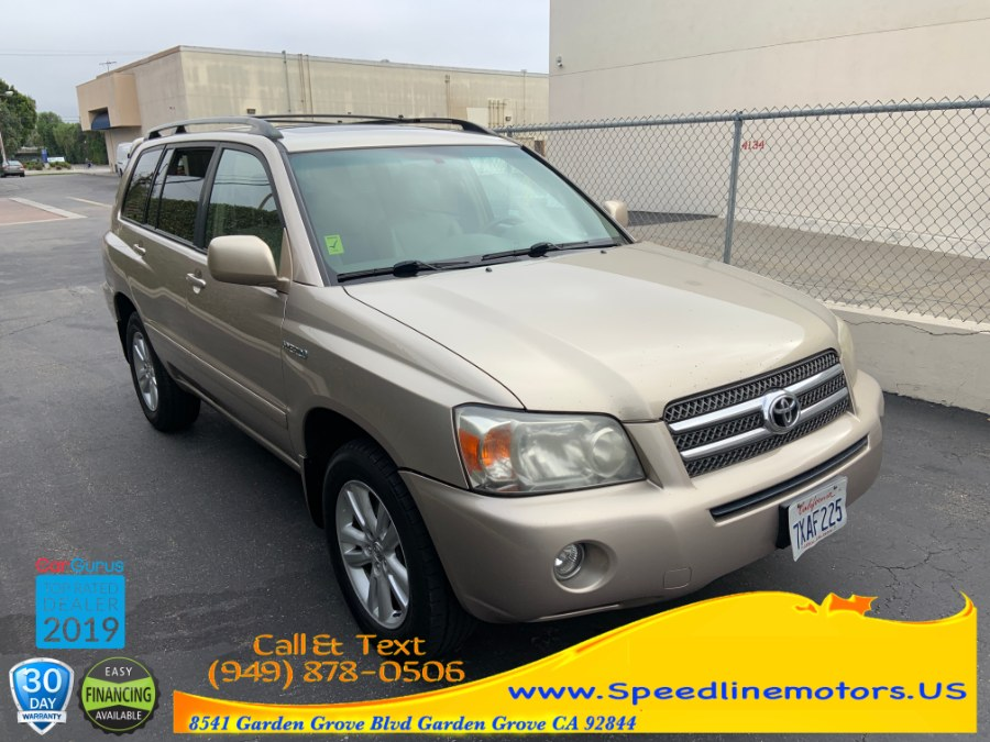 2007 Toyota Highlander Hybrid 2WD 4dr w/3rd Row (Natl), available for sale in Garden Grove, California | Speedline Motors. Garden Grove, California