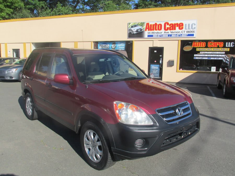 2005 Honda CR-V 4WD EX AT, available for sale in Vernon , CT