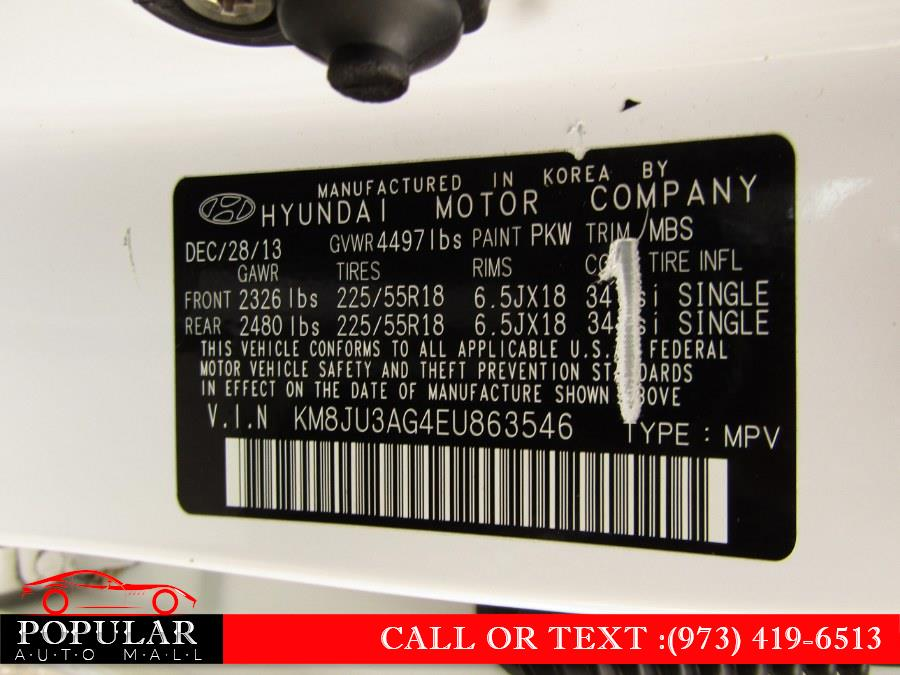 Used Hyundai Tucson FWD 4dr Limited 2014   Popular Auto Mall Inc . Newark , New Jersey