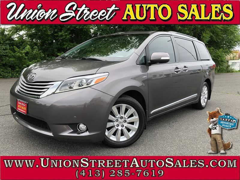 2015 Toyota Sienna 5dr 7-Pass Van Ltd Premium AWD (Natl), available for sale in West Springfield, MA