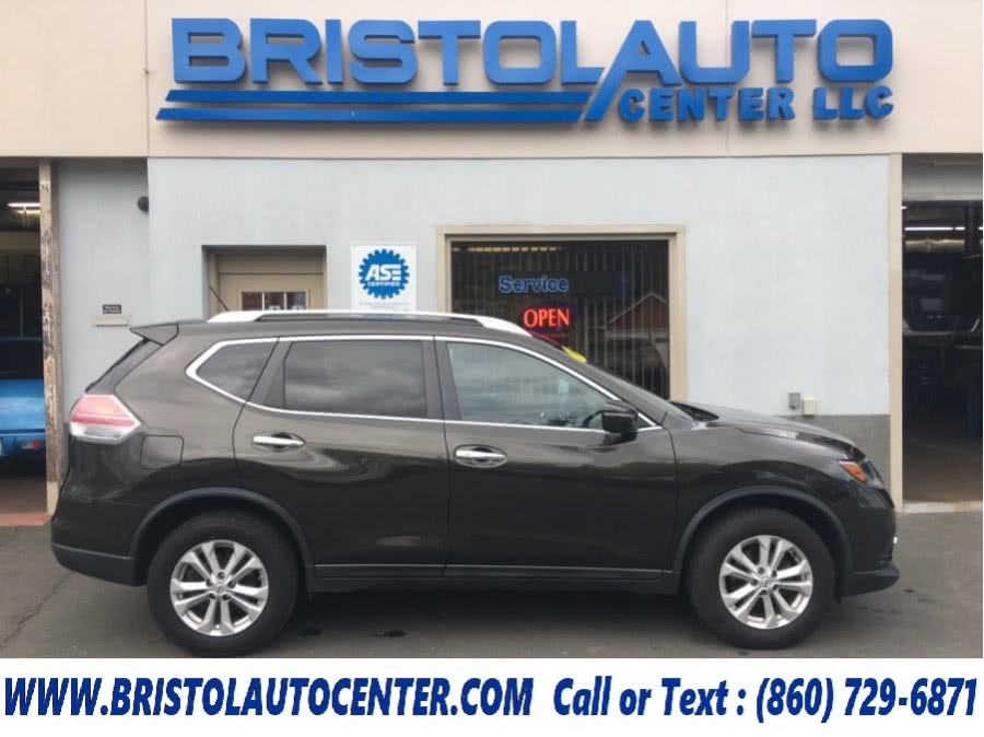 2014 Nissan Rogue AWD 4dr S, available for sale in Bristol, Connecticut | Bristol Auto Center LLC. Bristol, Connecticut