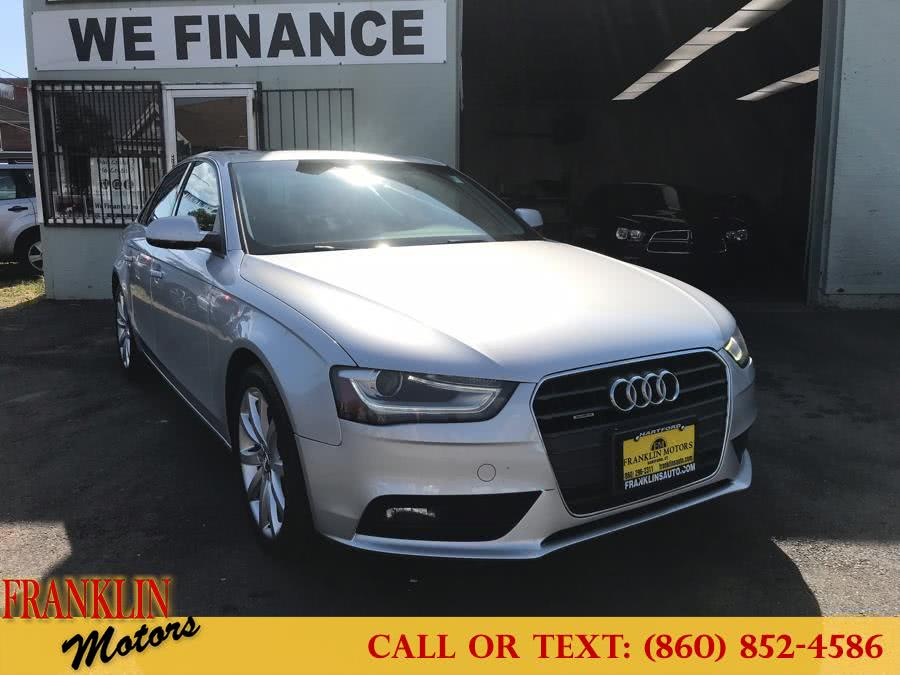 Used 2013 Audi A4 in Hartford, Connecticut | Franklin Motors Auto Sales LLC. Hartford, Connecticut