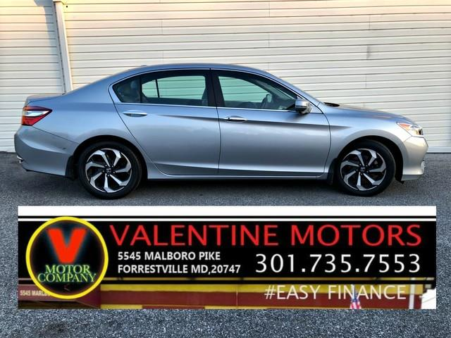 2016 Honda Accord Sedan EX-L, available for sale in Forestville, Maryland | Valentine Motor Company. Forestville, Maryland