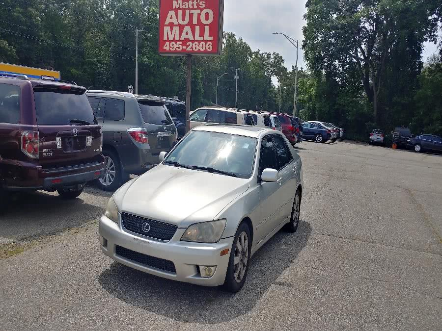 Used Lexus IS 300 4dr Sdn Auto Trans 2002 | Matts Auto Mall LLC. Chicopee, Massachusetts