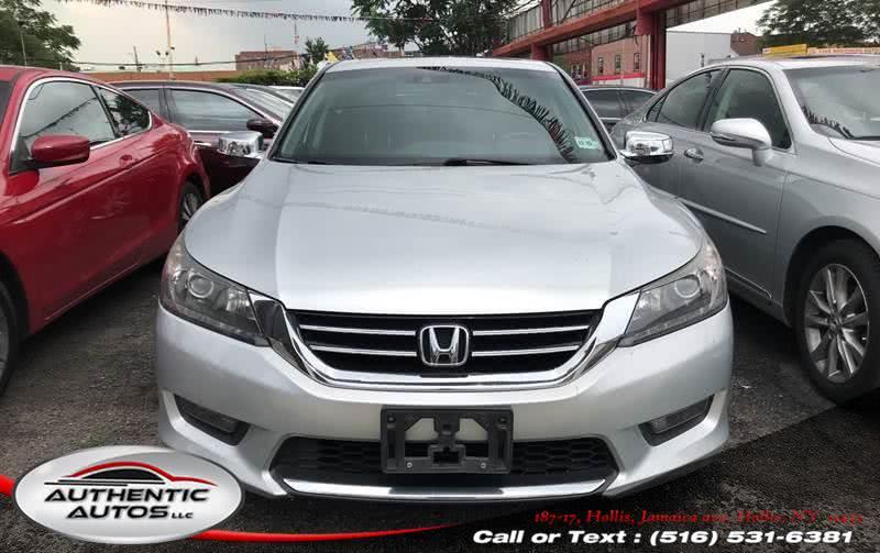 2015 Honda Accord Sedan 4dr V6 Auto EX-L, available for sale in Hollis, New York   Authentic Autos LLC. Hollis, New York