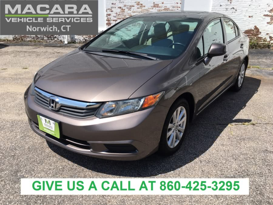 Used Honda Civic Sdn 4dr Auto EX 2012 | MACARA Vehicle Services, Inc. Norwich, Connecticut