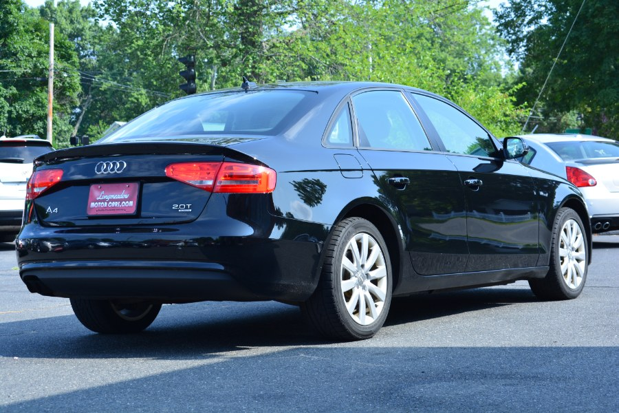 2013 Audi A4 4dr Sdn Man quattro 2.0T Premium, available for sale in ENFIELD, Connecticut | Longmeadow Motor Cars. ENFIELD, Connecticut