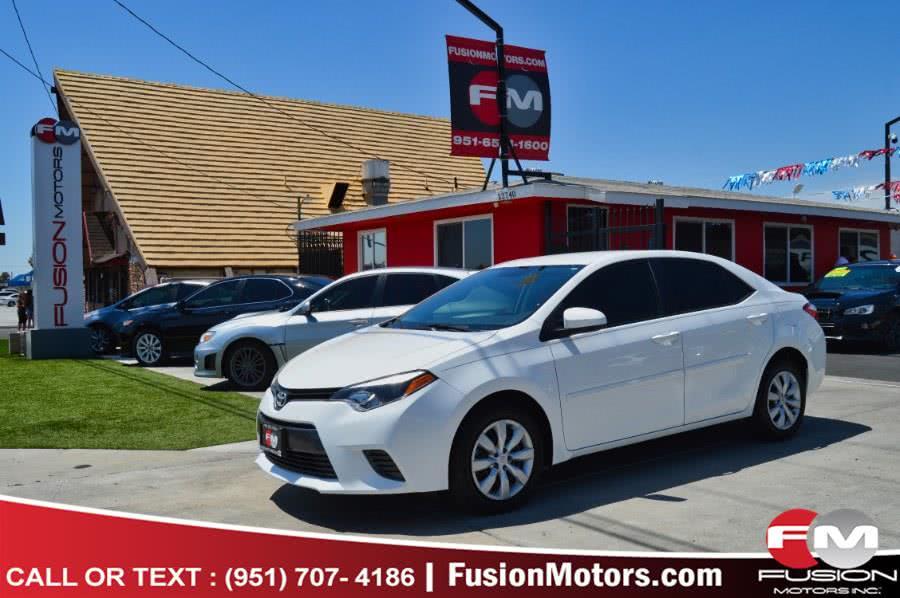 Used Toyota Corolla 4dr Sdn CVT LE (Natl) 2016 | Fusion Motors Inc. Moreno Valley, California