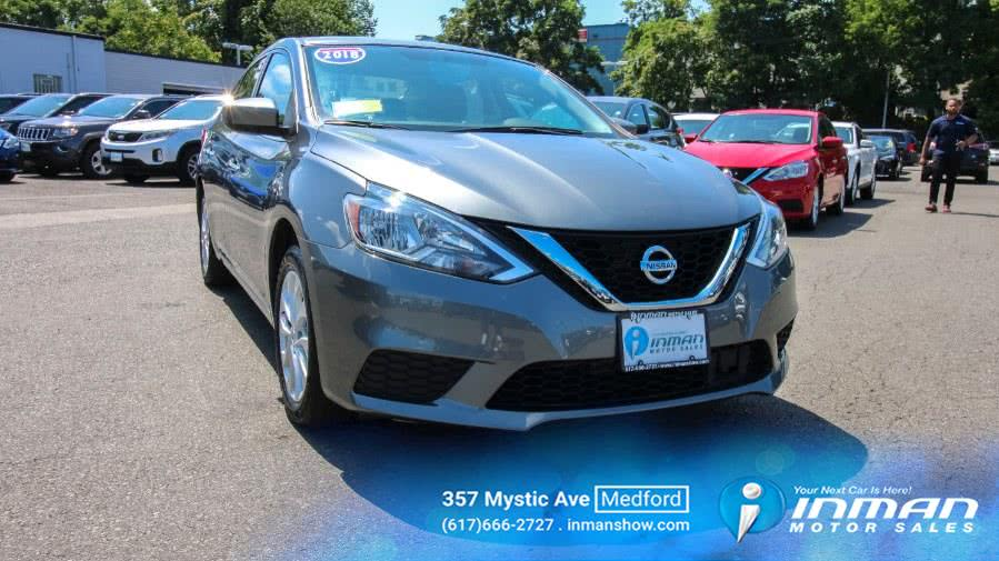 2018 Nissan Sentra SV CVT, available for sale in Medford, Massachusetts | Inman Motors Sales. Medford, Massachusetts